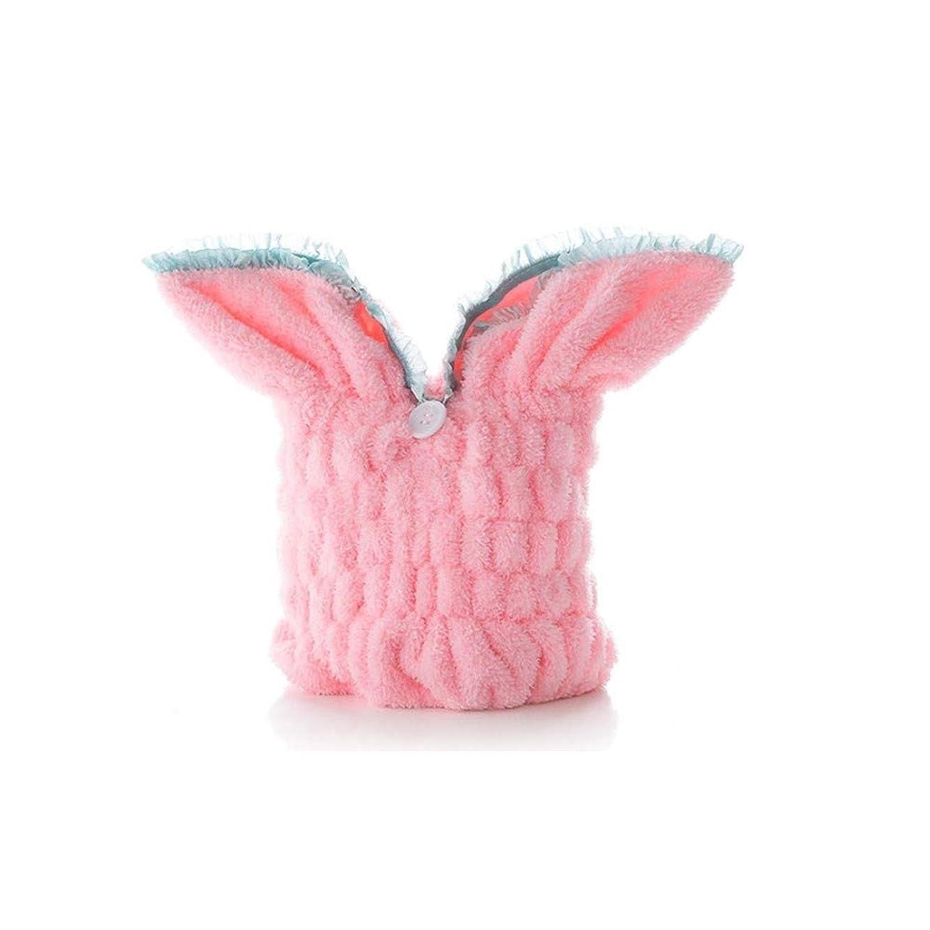 写真シリーズ苦情文句QXFD キャップシャワー、女子ドライシャワーキャップデラックスは、キャップレディすべての髪の長さや太さ防かび、再利用可能なシャワーキャップシャワー。 (Color : Pink)