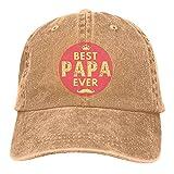Jopath Best Papa Ever Casquette de baseball réglable en jeans pour femme