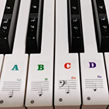 Piano Stickers for Keys, Yalloy Colorful Piano Keyboard Stic