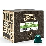 Note d'Espresso Italiano - Cápsulas de Café de Brasil, compatibles con cafeteras Nespresso, 100 unidades de 5.6 g, Total: 560 g