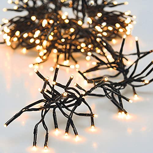 Cluster-Lichterkette 576 LED warmweiß 7,2m Netzbetrieb Innen und Außen Weihnachten