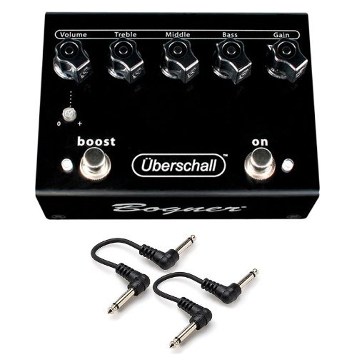 "Bogner Uberschall Overdrive OD Distortion Guitar Pedal 2 FREE 6ï¾"" Patch Cables"