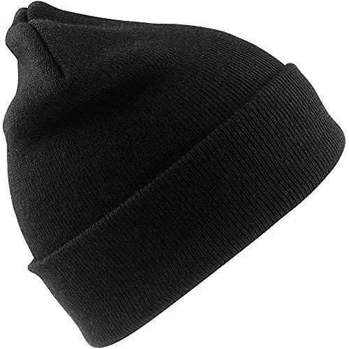 Result Woolly Bonnet Thermique pour Ski/Hiver avec Isolation Thinsulate 3M (Taille Unique) Noir