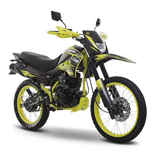 Motocicleta Italika de Doble proposito- Modelo DM 200 Amarillo