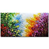 V-inspire Art, 24x48 inch Modern Abstract Oil Painting on Canvas Wall Art Hand Painting Living Room Bedroom Decoration Ready to Hang