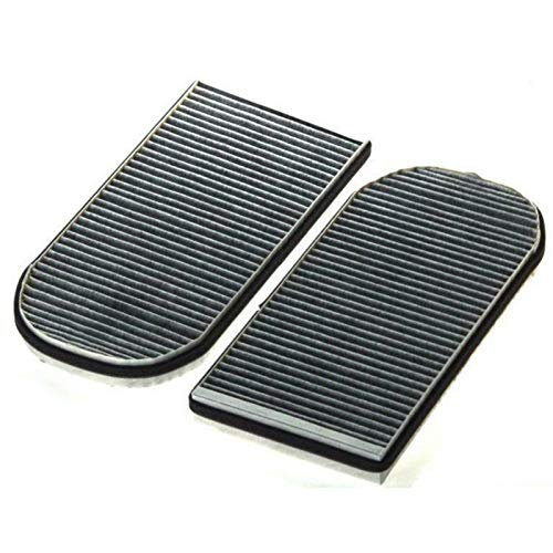 MAMINGGANG MmGang®. Kabinenluftfilter Fit für BMW E38 728I 730i 735i 740i 750i 4.0L 5.4L Modell-Stil Jahr 1995-2000 2001 Filterzubehör 2-TLG (Color : Grey)