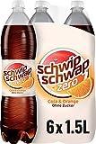 Schwip Schwap ohne Zucker – Koffeinhaltiges Cola-Erfrischungsgetränk mit Orange (6 x 1,5 l)
