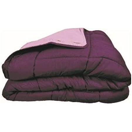 Couette bicolore Polyester Prune/Parme 240 x 260 cm - POYET MOTTE - Gamme CALGARY