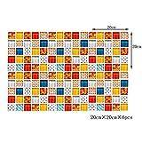 Azulejos adhesivos 6pcs / set mosaico Espesar impermeable azulejos de la pared etiqueta engomada decoración del hogar Peel de baldosas y palillo de Arte PVC etiquetas de la pared de la cocina Baño 20X