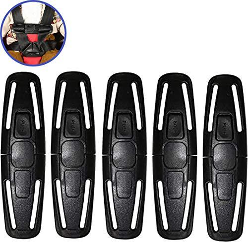 Auto Sicherheit Sitz Brustgurt Clip und Baby Sicherheitsgurt Clip Autositz Universal Sitz Brust Clip Safe Buckle Lock Gürtel Für Kinder (5 Pack)