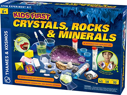 Thames & Kosmos Kids First Crystals, Rocks & Minerals Science Experiment Kit, Intro to Geology, Mineralogy & Crystal Growing for Early Learners JungleDealsBlog.com