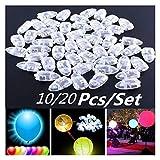 Jjwlkeji Esmalte de uñas en Gel 20pcs / Set Multicolor Flash LED Bola de luz de la lámpara del Globo por Suministros de Decoración Fiesta de la Boda Bridal Show cumpleaños de Halloween (Color : 28)