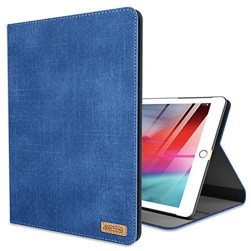 TORRAS Neues iPad 9.7 Zoll 2018/2017 Hülle, Ultra Dünn Smart Case Denim Hochwertiges PU Leder Schutzhülle mit Ständer & Auto Einschlaf/Aufwach Funktion Hülle für Neu iPad 9.7 2018/2017 - Blau