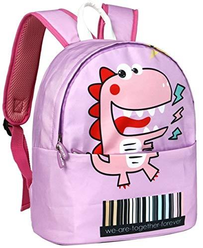 LAOBIAOZI Orthopädische Niedlichen Dinosaurier Baby Rucksack Kinder Baby Schultasche for Mädchen Junge Kindergarten Tasche (Color : Pink,...