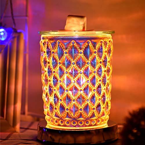 Fasola Duftlampe Elektrisch, Berühren Sie EIN/Aus Melts Duftwachs Mit Abnehmbarer Glasplatte, Candle Warmer Elektrisch für Home Office Schlafzimmer Wohnzimmer Geschenke & Dekor
