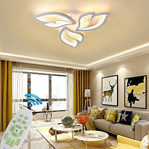 Lampara LED Salon Techo Modernas Regulable Dormitorio Plafon Luz Moderno Forma de...