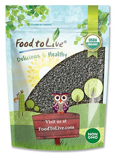 Organic Black Cumin Seeds, 1 Pound - Non-GMO, Whole Nigella Sativa, Raw Vegan Superfood, Bulk Black Caraway, Great for Cooking, Spicing, and Seasoning.