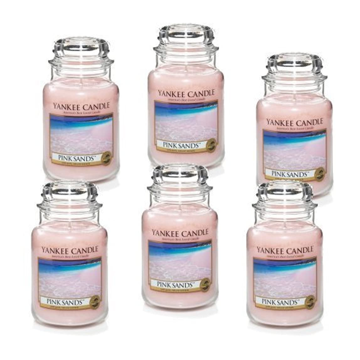 おじいちゃんメアリアンジョーンズ説明Yankee Candle Company 22-Ounce Pink Sands Jar Candle, Large, Set of 6 by Amazon source [並行輸入品]