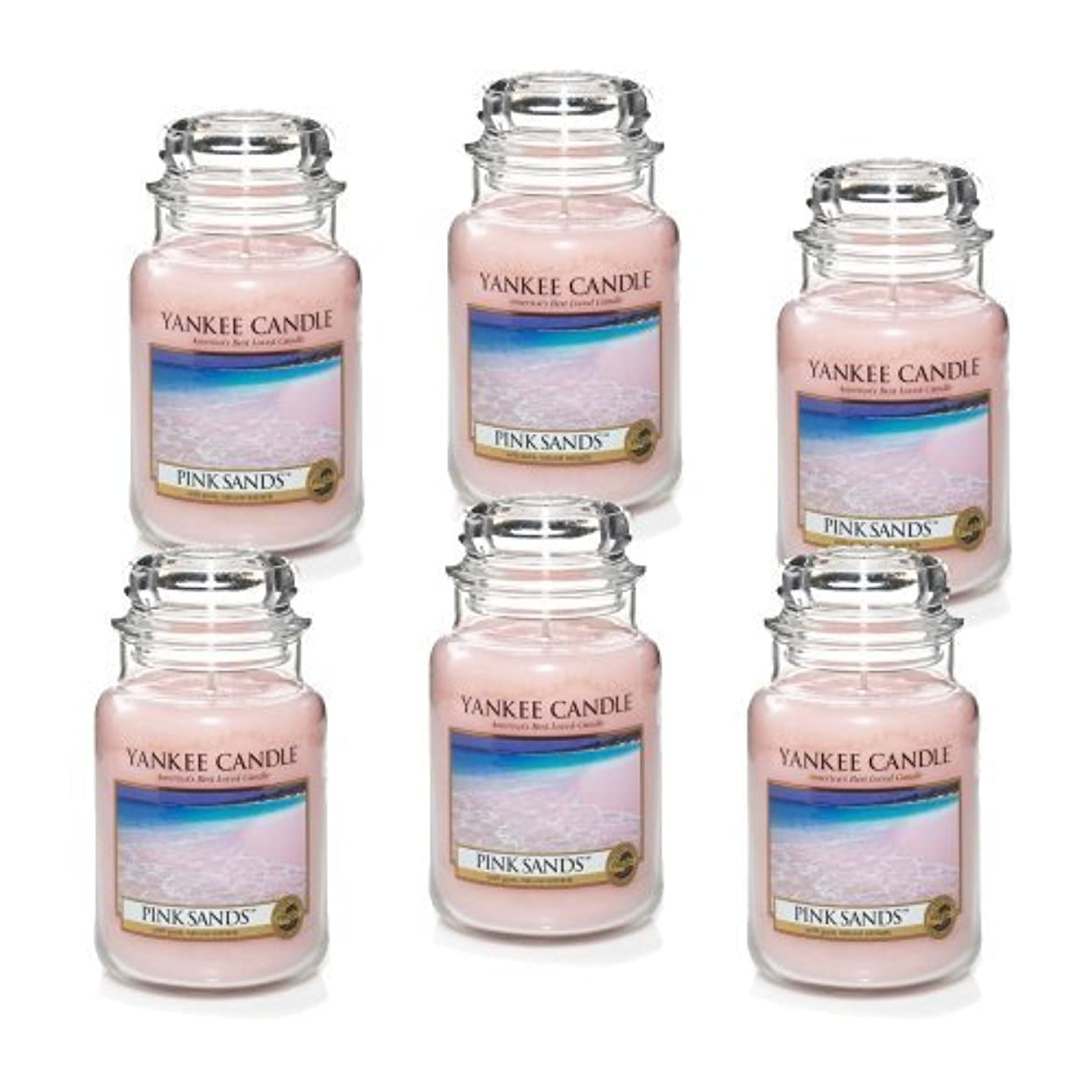 マーベル全滅させる不均一Yankee Candle Company 22-Ounce Pink Sands Jar Candle, Large, Set of 6 by Amazon source [並行輸入品]
