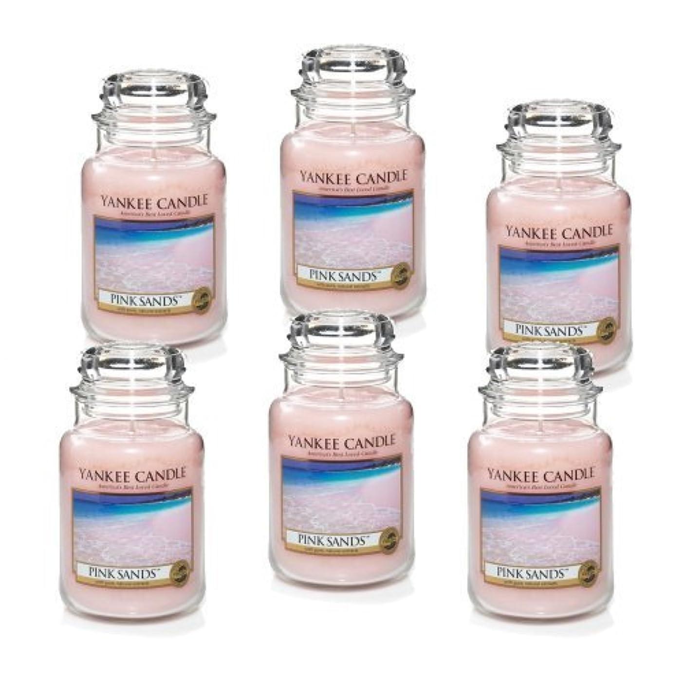 ジェム夫保存Yankee Candle Company 22-Ounce Pink Sands Jar Candle, Large, Set of 6 by Amazon source [並行輸入品]