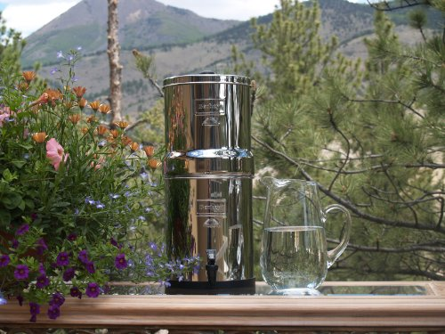 Berkey BK4X4-BB Big Water Purification System with 4 Black Filter Elements and 4 Fluoride Filters