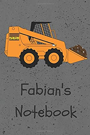 Fabians Notebook: Construction Equipment Skid Steer Cover 6x9 100 pages personalized journal/notebook/drawing notebook