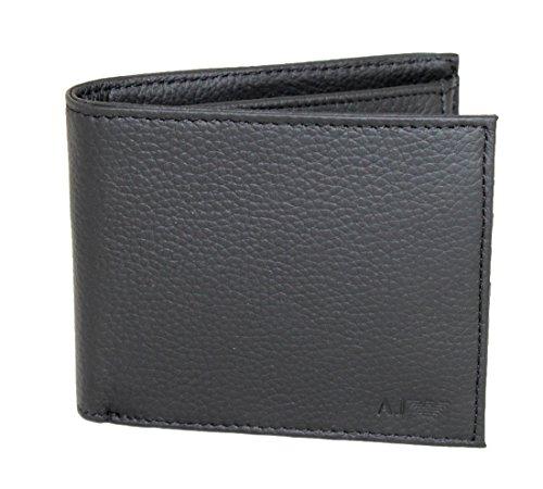Armani Jeans Geldbörse Geldbeutel Portemonnaie im Geschenkbox 06v2L schwarz