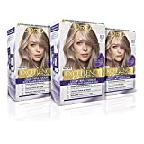 L'Oréal Paris Excellence Cool Creme Tinte Permanente Triple Cuidado Efecto Anti-Anaranjado Tono 8.11 Rubio Claro Ceniza Intenso - Pack 3 unidades