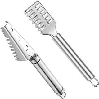 2 Pieces Fish Scaler Remover with Stainless Steel Sawtooth, Ergonomic Handle Design with Firm Grip for Faster and Easier F...