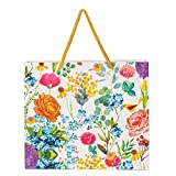 Material Type: Paper, 220 GSM with Rope Handle. Eco Friendly Biodegradable attractive gifting carry bags Size: 25.3 x 22 x 7.7 CM Floral Carrybag - Kids Design. A Beautiful Carrybag, Perfect For Gifting Smaller Items Package Contains: Pack of 5 Piece...