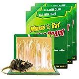 ZWSM Trampas De Pegamento para Ratones Tablero De Pegamento para Ratas Paquete De 3 Trampas De Pegamento para Ratas No Tóxicas Y Ecológicas, Uso Interiores Y Exteriores