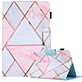 9.5-10.5 inch Tablet Universal Case,PU Leather Case Cover for iPad Air,New iPad 5th/6th Gen, Samsung Tab A 10.1/Tab E 9.6 and More 9.5-10.5inch Tablet, Plaid Marble