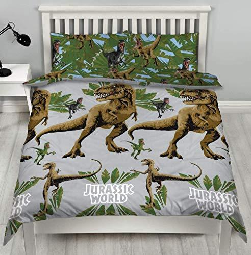 Wnyun Juego de Ropa de Cama Jurásico Dinosaurio Animal Juego de Funda nórdica con Estampado en Microfibra,Impresa en 3D,con Cierre de Cremallera-150x200cm
