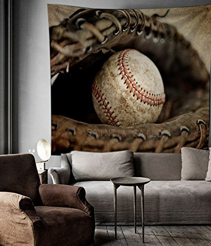 "Baseball Sports Tapestry Wall Hangings Dorm Decorations,80""W x 60""L"