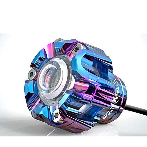 10w Motorrad Spotlight Geführt Fahren,glauben Wasserdichte Motobike-zusatzlampe,motorrad Angel Eyes Licht Zusätzliche Lichter Dekorative Lichter Blau