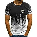 Camiseta De Manga Corta T-Shirt Moda Verano Hombres Camiseta Pintada A Mano Tinta Pintura Impresión Casual Camiseta Hombres Ropa Camiseta para Hombres-T3000-5_XXL
