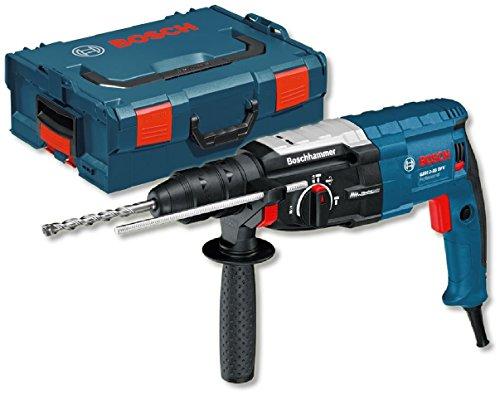 Bosch Professional Bohrhammer GBH 2-28 (mit SDS plus, Schlagenergie 3,2 J, Zusatzhandgriff, Tiefenanschlag 210 mm, Maschinentuch, in L-BOXX 136)