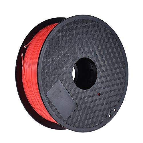 Aibecy Filamento di ABS 1kg 1.75mm Filamenti per Stampanti 3D / Penna 3D,Fluo-rosso