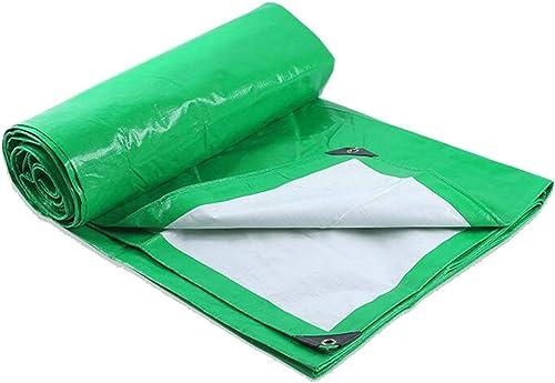 WSGZH Toile De Pluie Rembourrée Vert-Blanc Bache De Camion De Parasol De Prougeection Solaire Imperméable Multifonctionnel 180g par Mètre Carré
