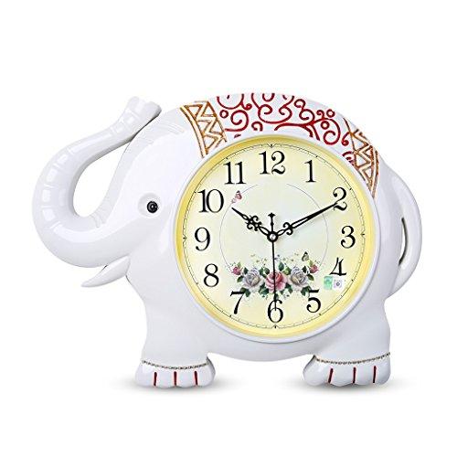 horloge murale Mute Salon Chambre Horloge Mode Creative Quartz Horloge Personnalité Horloge Montre Rollsnownow (Color : White)