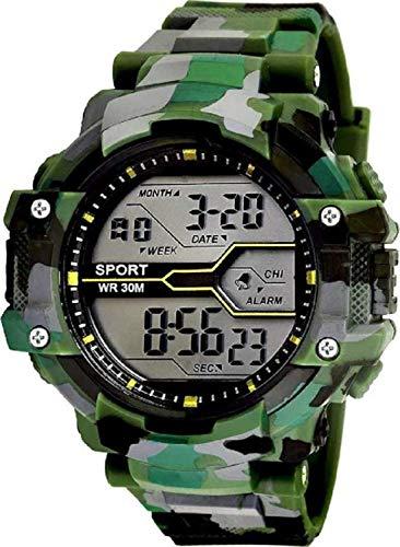 DRITON Digital Boys' Watch (Black Dial Black Colored Strap)