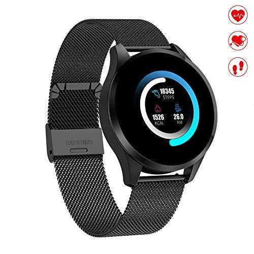 Oolifeng Smartwatch dames heren activiteitstracker waterdicht IP67 armband met stappenteller en sms-slaapmonitor polshorloge