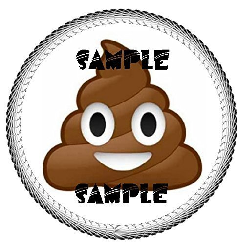 Poop Emoji Edible 8' Round Cake Topper Frosting Sheet