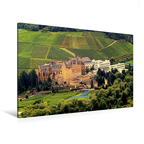Premium Textil-Leinwand 120 x 80 cm Quer-Format Blick auf das Ursulinenkloster in Ahrweiler | Wandbild, HD-Bild auf Keilrahmen, Fertigbild auf hochwertigem Vlies, Leinwanddruck von Arno Klatt