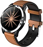 CNZZY Appartamento per Android Ios, G03 Smart Watch Blodtryck Monitor Sport EKG HPV Uomini Fitness Tracker bracciale bracciale IP67 Orologio (A)