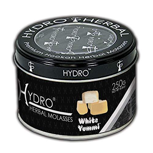 Hydro Herbal, Hookah Shisha Flavor, 250g Can, Tobacco Free, Nicotine Free [White YUMMI - Gummy Bear]