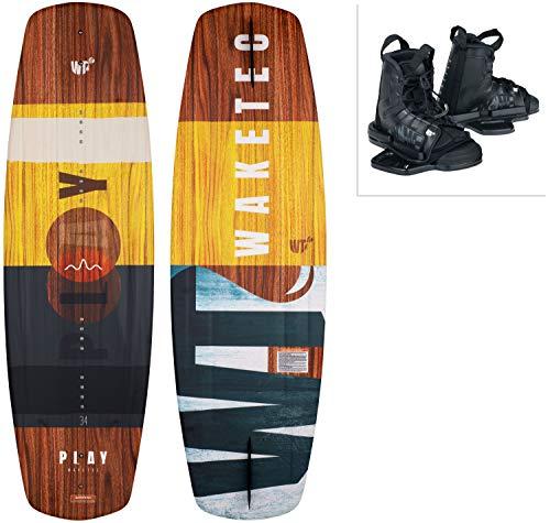 WAKETEC Wakeboard-Set Play mit Moto Bindung, Package für Anfänger und Fortgeschrittene, 134 cm 139 cm, leicht zu Fahren, Körpergewicht 40-85 kg, Kinder Erwachsene Einsteiger, Größe:S-M, Länge:134 cm