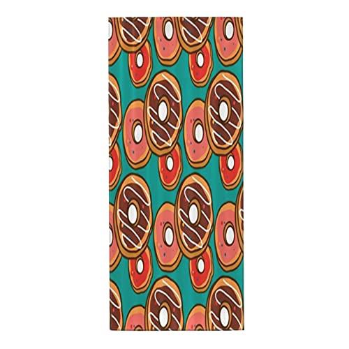 COVASA Toalla Facial Absorbente Suave,patrón de rosquilla,Toalla de Playa de Microfibra para baño,Yoga,Deportes,Cocina,decoración del hogar,30x70cm