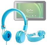 DURAGADGET Auriculares Infantiles Color Azul para Su Tablet Leotec L-Pad Meteor DCX - Ajustables Y Acolchados Disponible En Color Rosa
