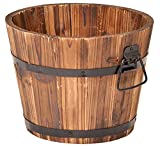 Devault Enterprises DEVBP208-S Round Barrel Planter, Small,10' x 10' x 8'